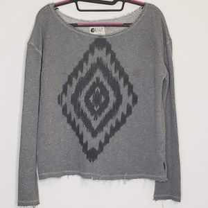 Billabong tribal print off the shoulder sweatshirt